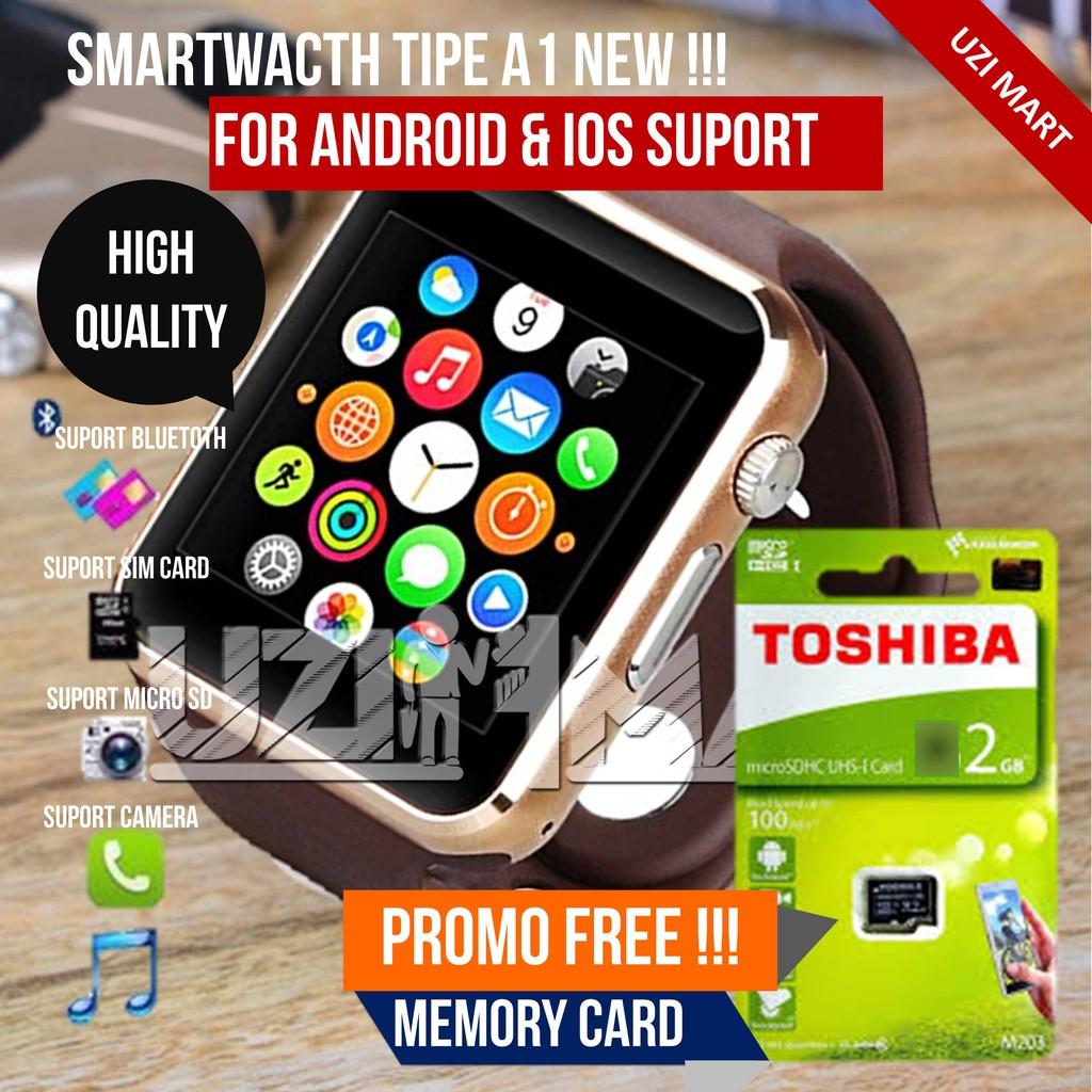 Jam Tangan Pria Wanita Onix Smartwatch U10 A1 Mirip Apple Watch Hp Full Black Murah Nelpon Sms Browsing Musik Shopee Indonesia