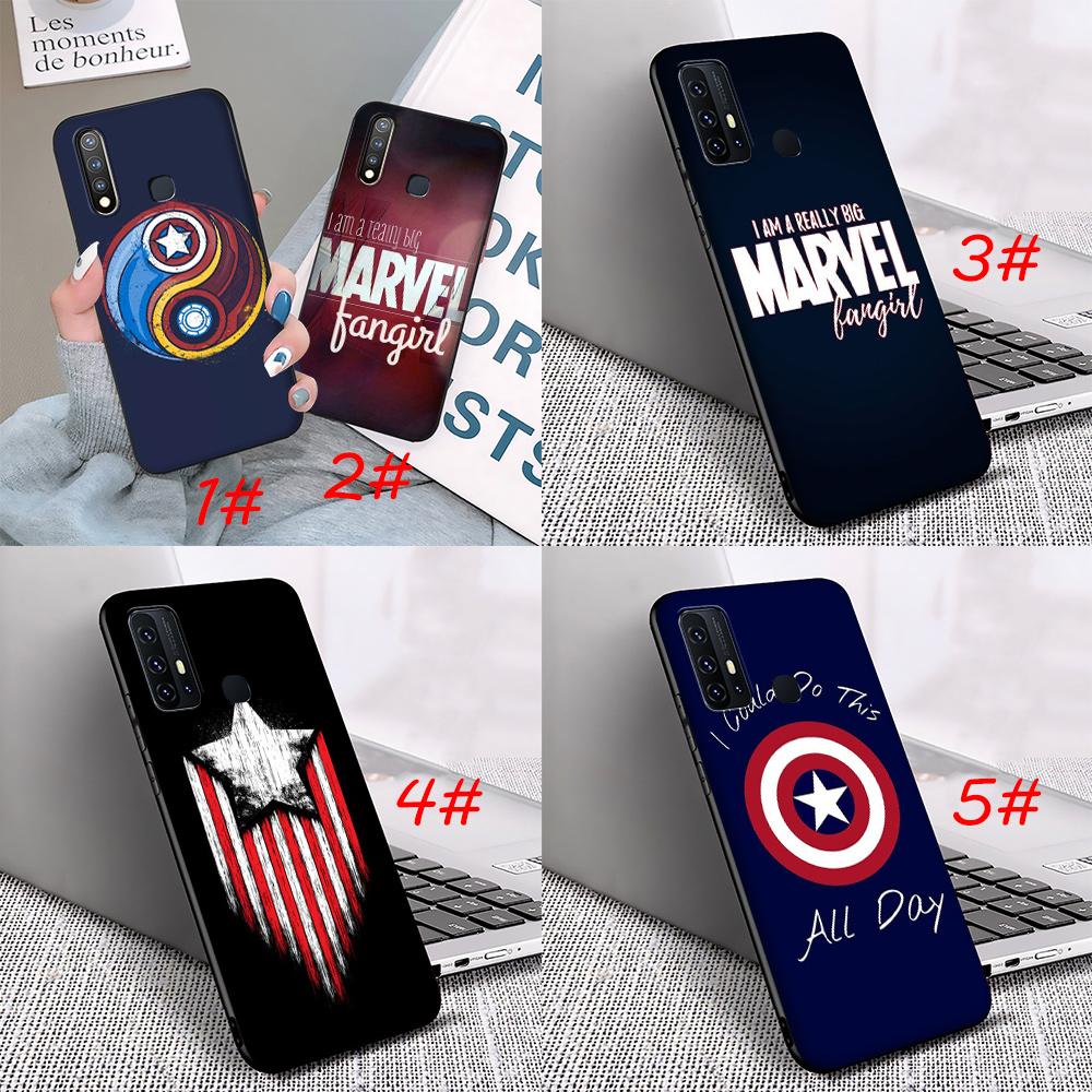 Soft Case Desain Logo Marvel Sk64 Untuk Vivo Y11 Y12 Y15 Y17 Y5s U3 Y55 Y69 Y71 Y81 Y81s Y91 Y91c Y93 Y95