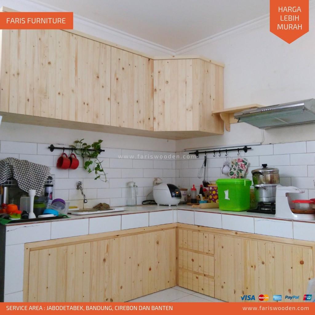 Kitchen Set Kayu Jati Belanda Harga Permeter Shopee Indonesia
