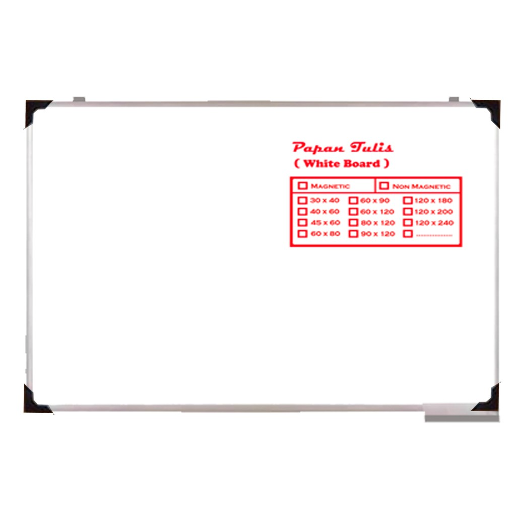 Big Promo White Board SAKANA 45 x 60 cm - Papan Tulis Whiteboard 45x60 Kecil ,,, | Shopee Indonesia