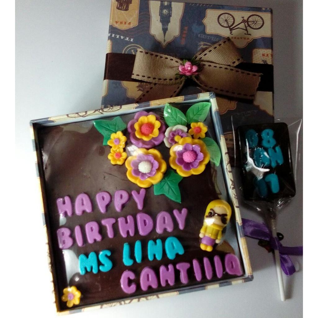Chocolate Box Coklat Ucapan Cokelat Kado Ulang Tahun Choco Gift Ultah Birthday Kado Pernikahan