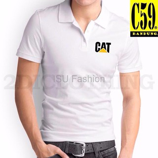 aa808e3ee Kaos Kerah Pria Baju Polo Kerah Kaos Distro Kerah Polo Cat Polo T shirt Cat  Poloshirt Caterpillar