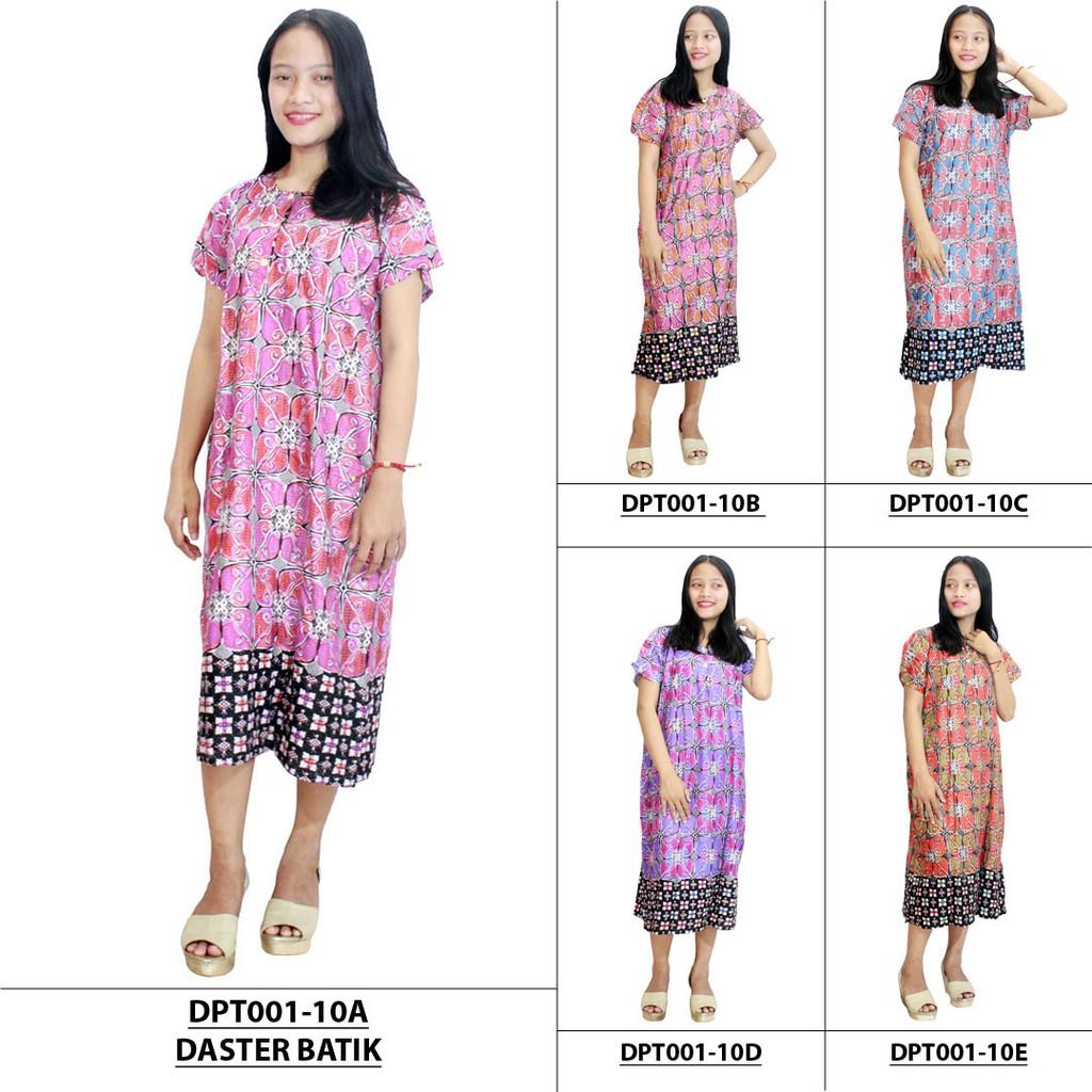 Daster Batik Lengan pendek - Motif Kawung - Leher Kancing - Bumil - Busui  (DPT001 067c209c62