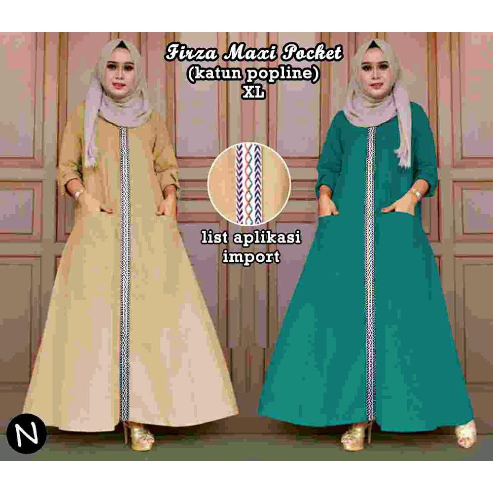 atk Maxi dress hijab syari polos simple elegan gaun pesta Maroon katun rayon marun navy | Shopee Indonesia