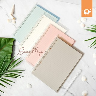 Slim File Binder Notebook B5 / Panmomo slim file binder B5 / Loose Leaf Berwarna Lucu Unik Murah