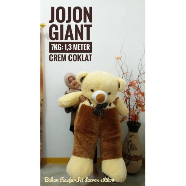BONEKA BERUANG TEDDY BEAR JOJON SUPER JUMBO CREAM BAJU COKLAT KOPI PINK FANTA MERAH HIJAU BIRU UKIR | Shopee Indonesia