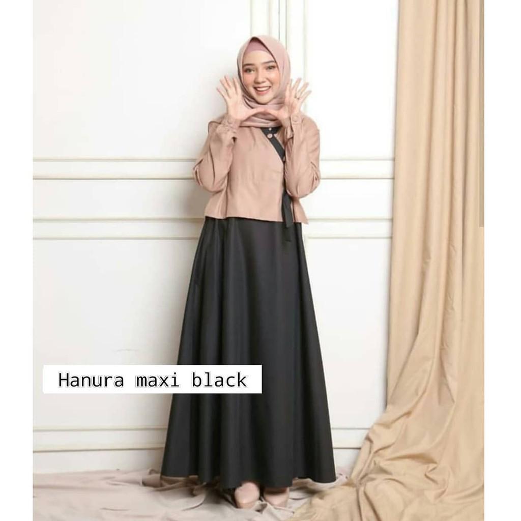 Hanura Maxi  Gamis Remaja  Dress Muslim Modern