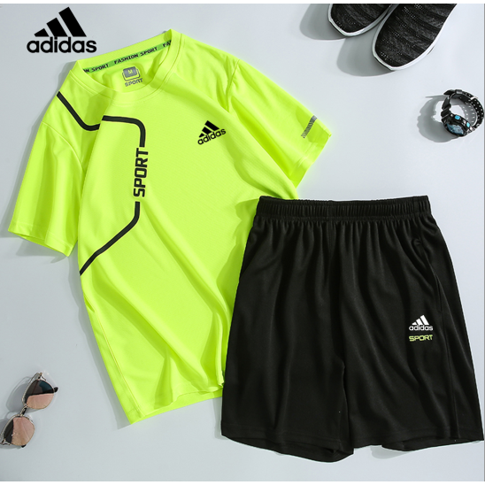 Adidas Kasual Berjalan Cepat Olahraga Setelan Pakaian Olahraga Pria Olahraga Shopee Indonesia