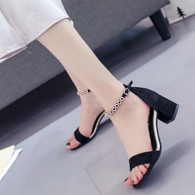 wanita seksi, Stiletto tali pergelangan kaki, Sepatu wanita Korea, Sepatu Roman