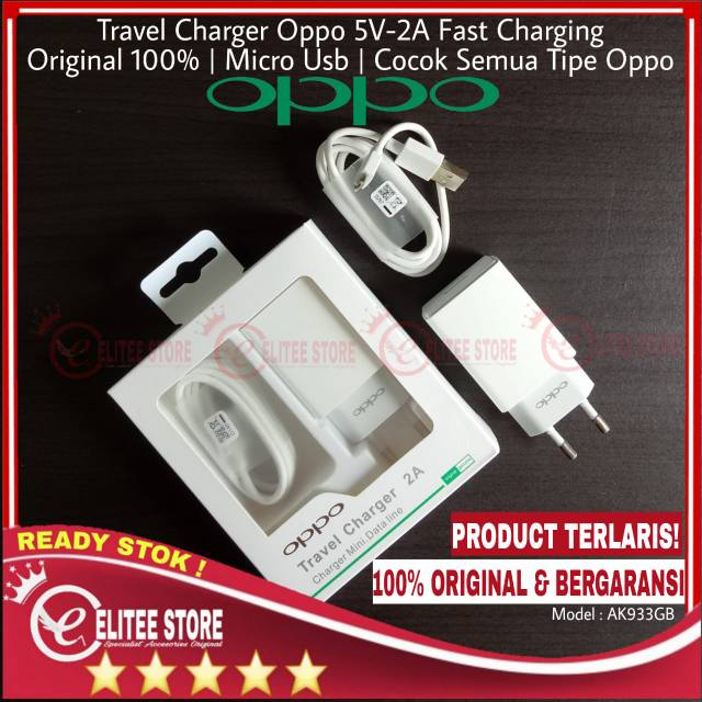 TRAVEL CHARGER OPPO 2A FAST CHARGING ORIGINAL 100% F1S F1 F3 F5 F7 A57 A39 A83 A71 A37 R9 NEO 7 | Shopee Indonesia