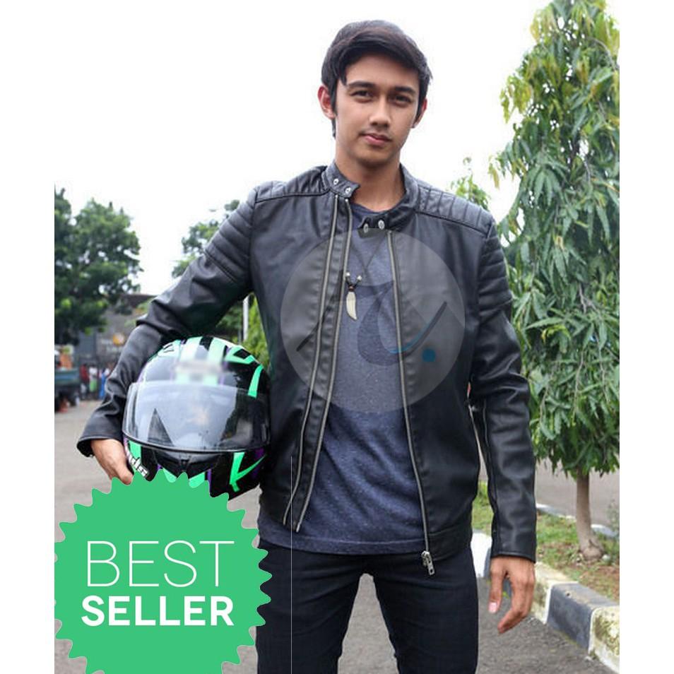 Jaket Ariel Noah Bomber Sporty Hitam Semi Kulit Sintetis Shopee Semikulit Indonesia