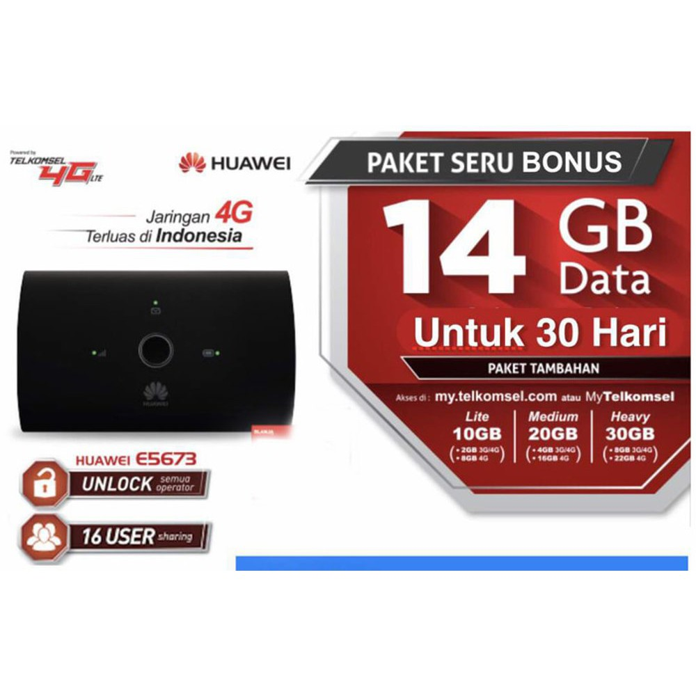 Modem 4g Usb Huawei E3372 Fdd900 1800 Tdd2300 Support All Operator Blazz Rx300 Lte Fdd Shopee Indonesia