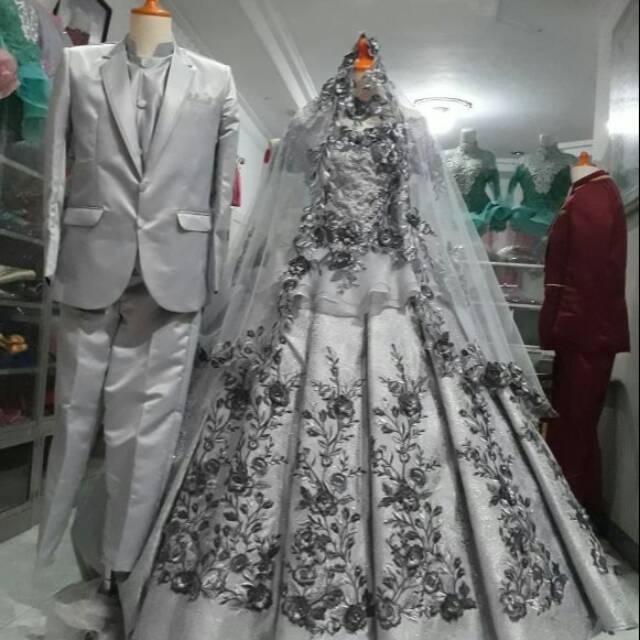 Gaun Pengantin Dan Jas Couple Modern Warna Dan Size Bisa Request