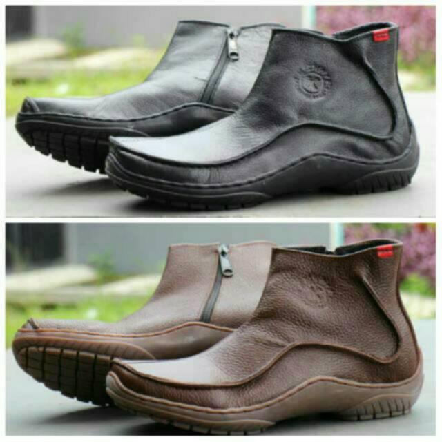 Sepatu kulit boots pria sepatu kantor sepatu formal sepatu zipper sepatu  kickers kulit asli  7383db7aa8