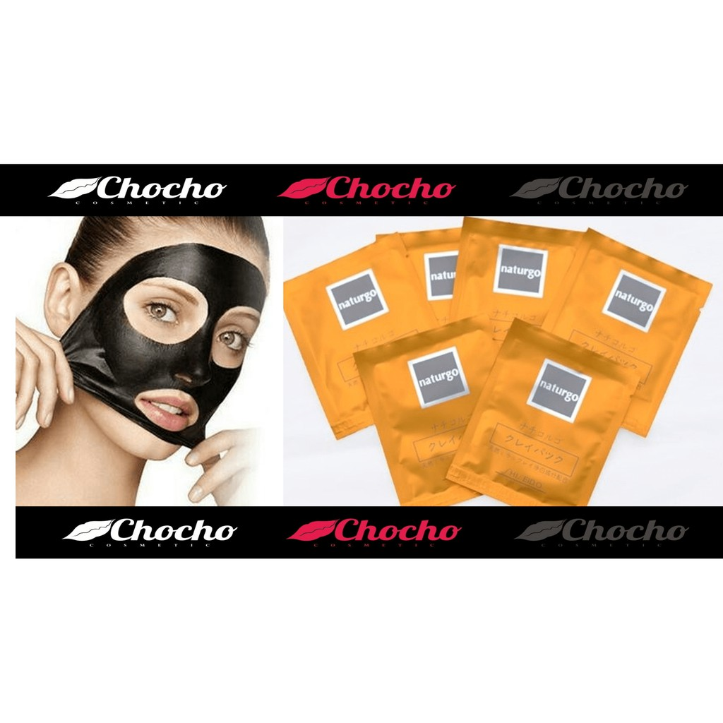 Naturgo Shiseido Mask Remove Black Head Masker Hitam Lumpur Penghilang Komedo Ori Jepang