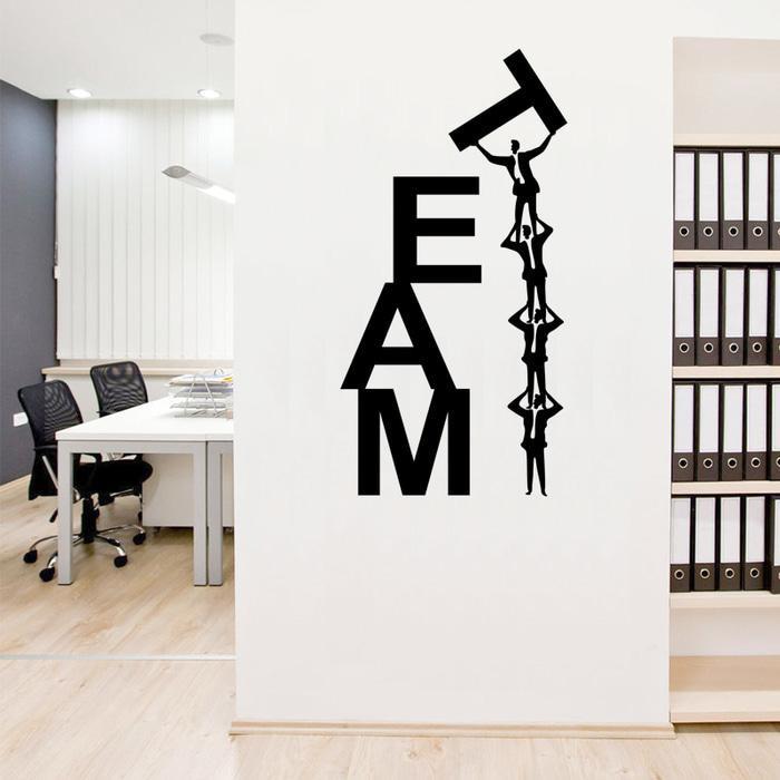wall stiker dinding kaca motivasi quotes team kantor kerja sticker