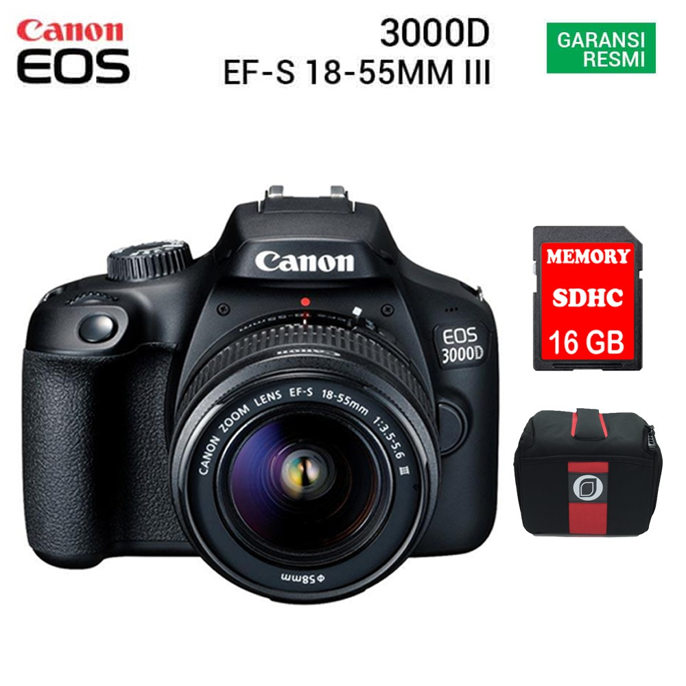 Canon Eos 3000d Kit Ef S 18 55mm Iii Shopee Indonesia M10 1 15 45mm F 35 63 Is Stm Garansi Datascrip Hitam