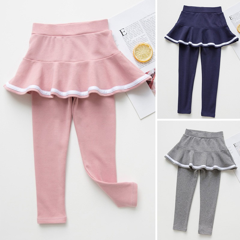 Babysmile Set Celana Legging Panjang Rok Mini Model Sambung Bahan Katun Untuk Bayi Perempuan Shopee Indonesia