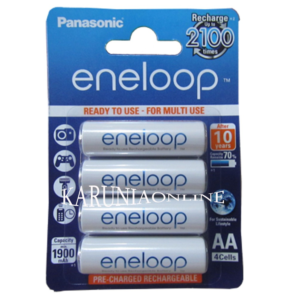 Sanyo Eneloop Harmolattice 4pcs Battery AA 2500mAh Rechargeable Pack | Shopee Indonesia