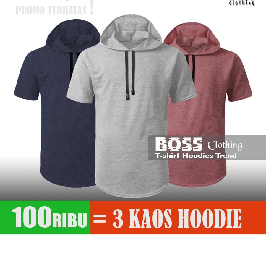 SLIMFIT Sweater Hoodie Lengan Pendek SLIMFIT Longline Hoodie Short Sleeve Black | Shopee Indonesia