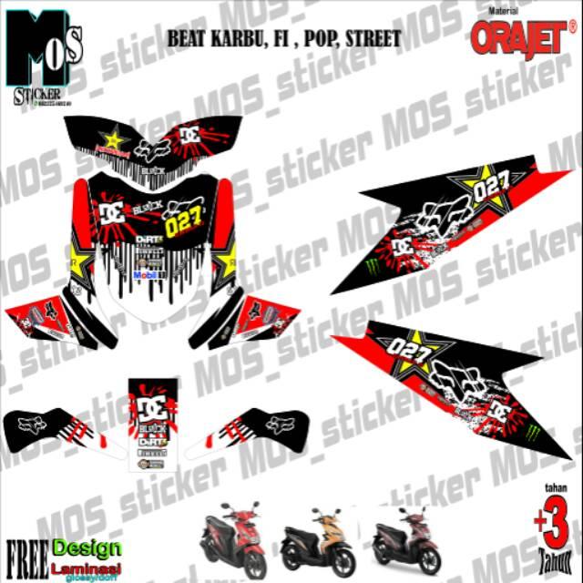Decal Stiker Sticker Motor Beat Karbu Beat Fi Beat Street Full Body Shopee Indonesia