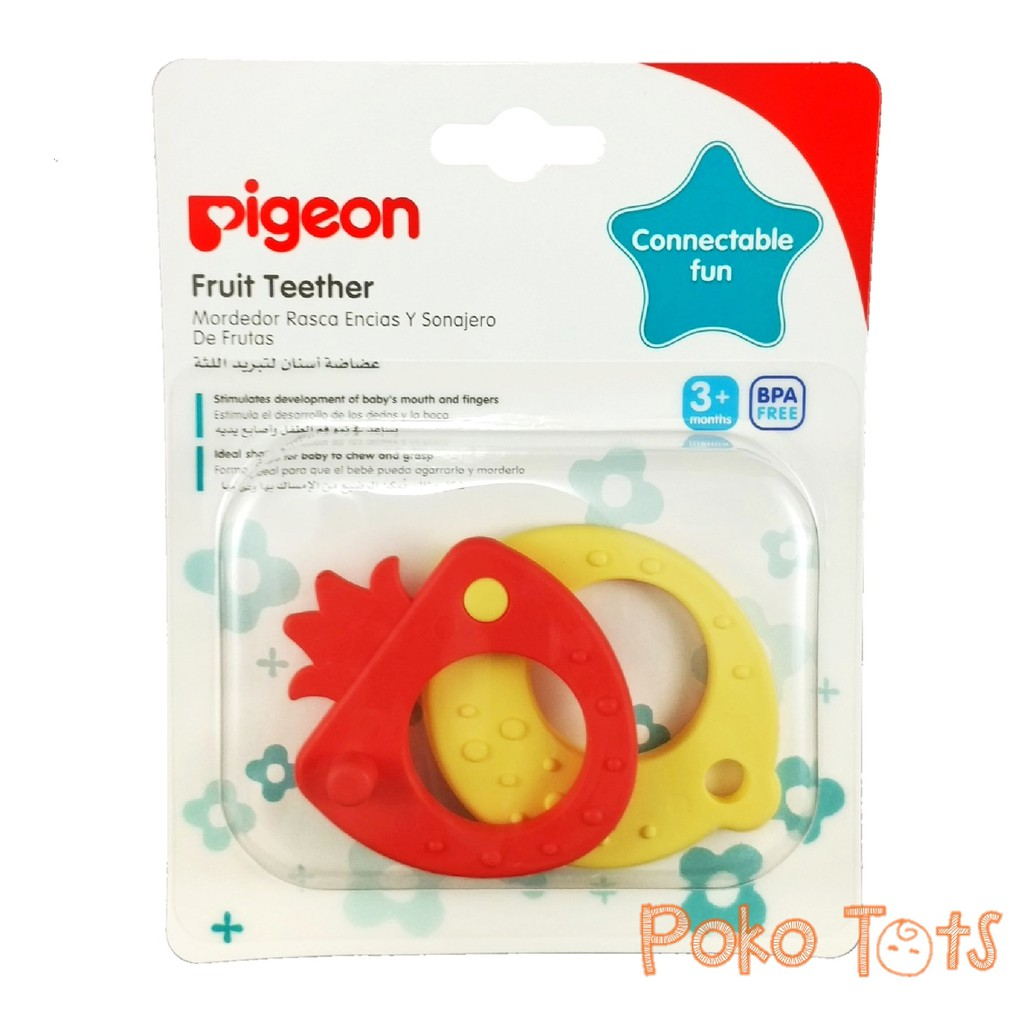Gigitan bayi PIGEON import step 2 teether for baby 7 month and up genggam tahap 2 balita tumbuh gigi | Shopee Indonesia