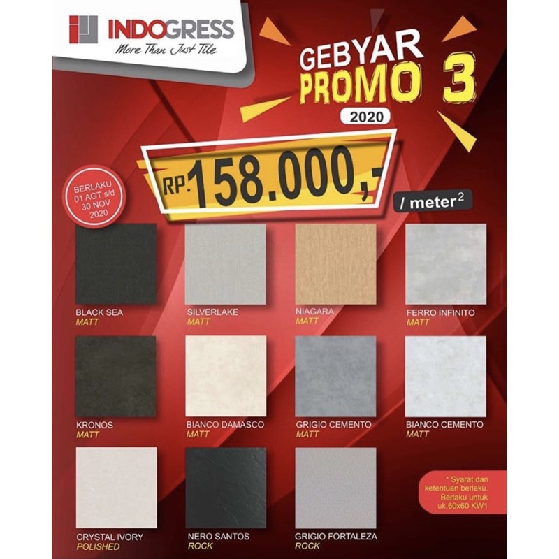 GRANIT INDOGRESS 60x60 PROMO