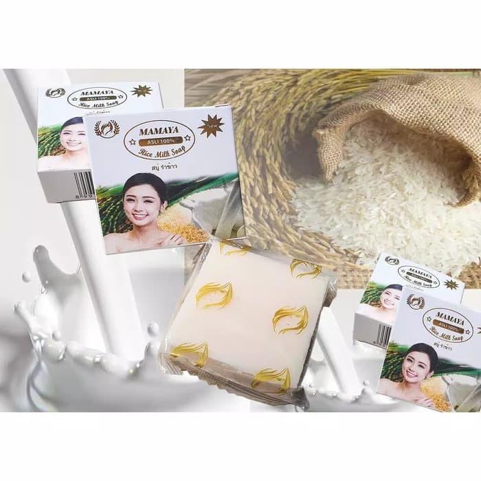 Mamaya Rice Milk Soap Sabun Beras Thailand Mamaya Bpom Shopee Indonesia