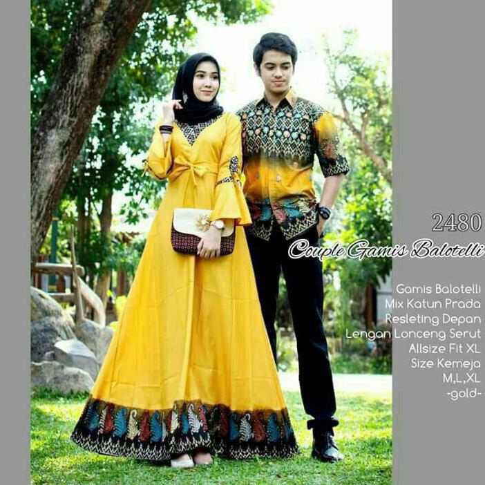 Model Gamis Batik Sarimbit Terbaru Realpict