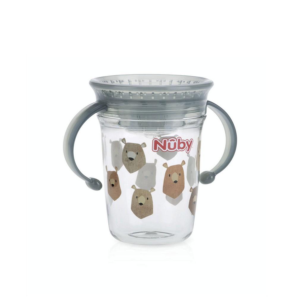 Nuby Wonder Cup Two Handle Tritan - Gelas Minum Bayi dan Anak - Go Baby &