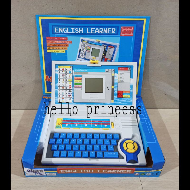 Mainan Edukasi Anak Laptop Computer Mini Alat Bantu Belajar Shopee Indonesia