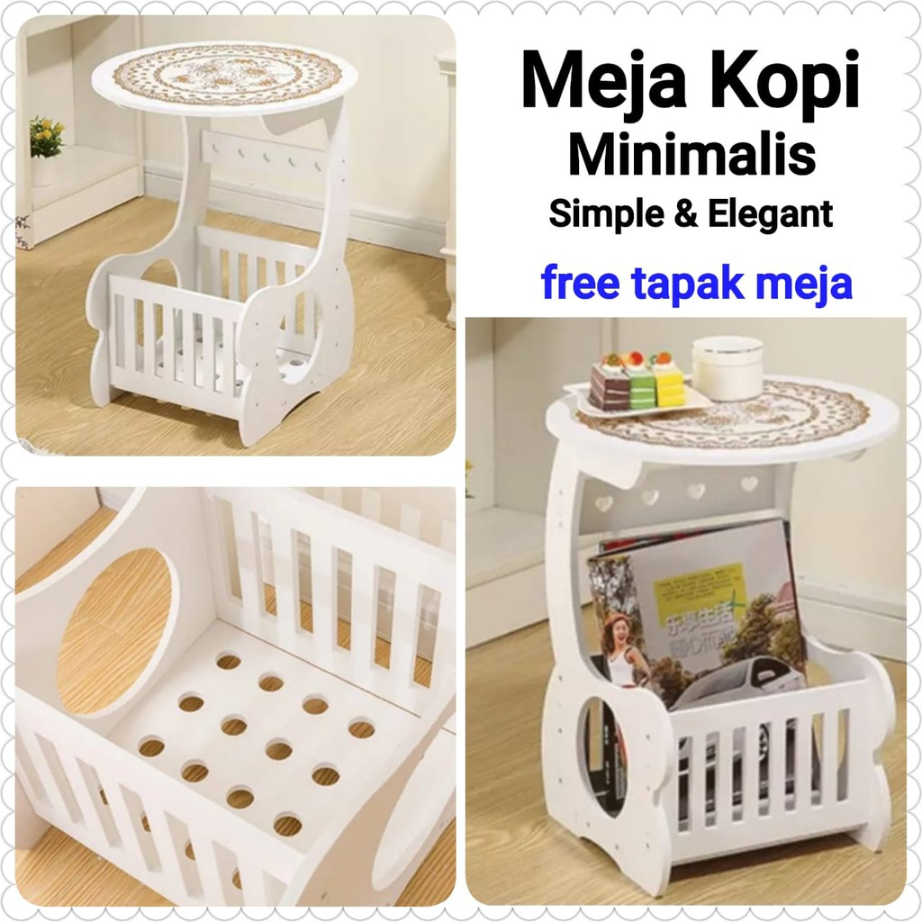 FREE TAPAK MEJA Small Round Coffee Table / Meja Ngopi ...