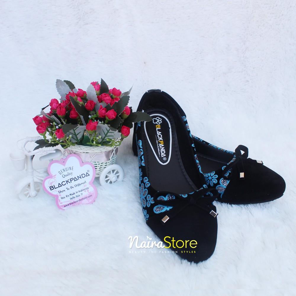 Black Panda Shoes Sepatu Balet Wanita Terbaru Suide Blacklexa