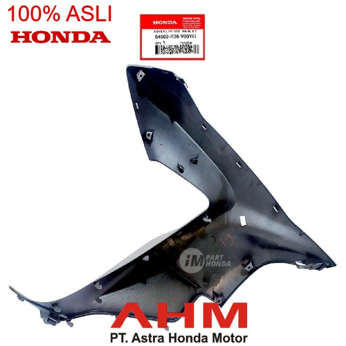 64502-K96-V00YG Cover tebeng sayap kiri PCX 150 Led K97 Biru Dof