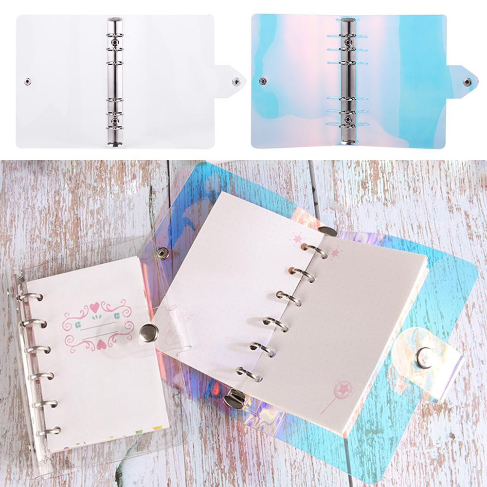 Pvc Loose Leaf Shell Notebook Diary Hand Account Binder Office