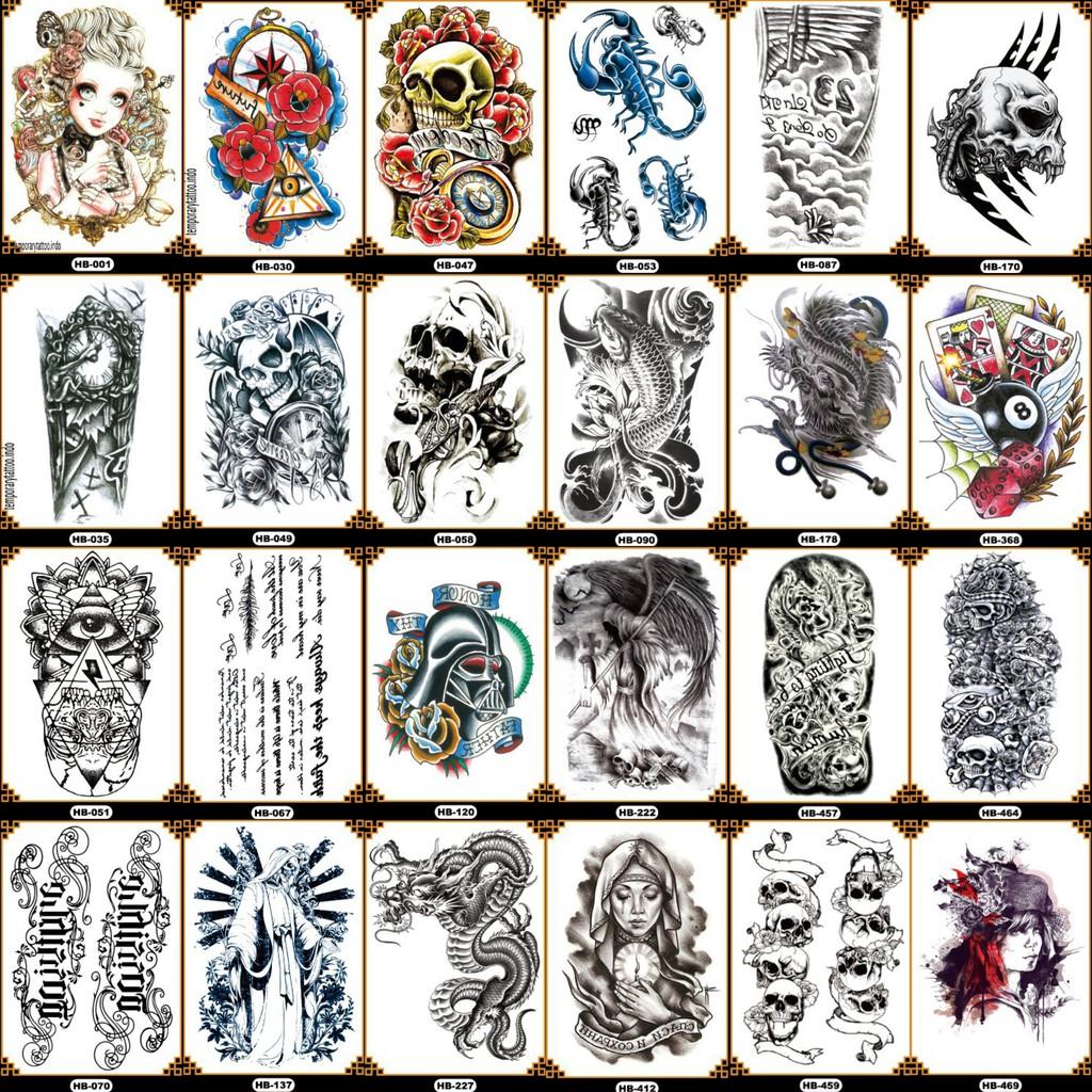 Tato Temporer Lengan Tangan Gaul Keren Temporary Tattoo 21x15 Hb Shopee Indonesia