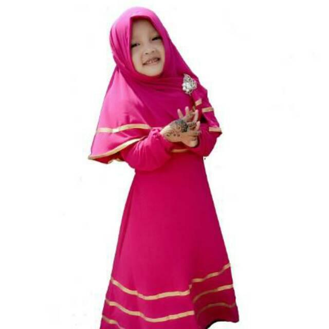 Baju Muslim Anak Gamis Anak Busana Muslim Anak Perempuan Warna