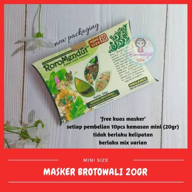 [20GR] MASKER JERAWAT BROTOWALI RORO MENDUT | Shopee Indonesia