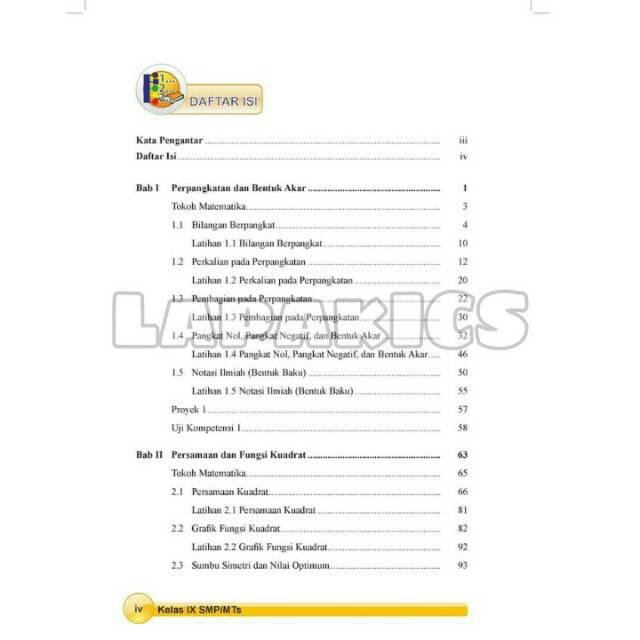 Buku Matematika Smp Kelas 9 Revisi 2017 2018 Kurikulum 2013 Kurtilas Shopee Indonesia