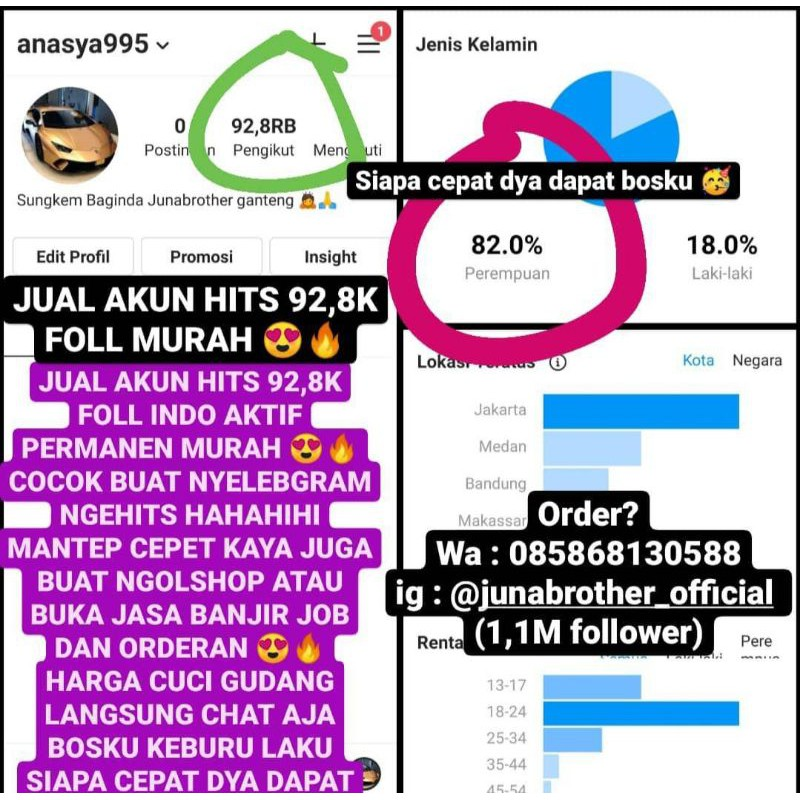 Jual Akun Murah Jual Akun Ig Murah Jual Akun Amanah Follower Murah Verified Like Murah Niqmad Ze Dr Shopee Indonesia