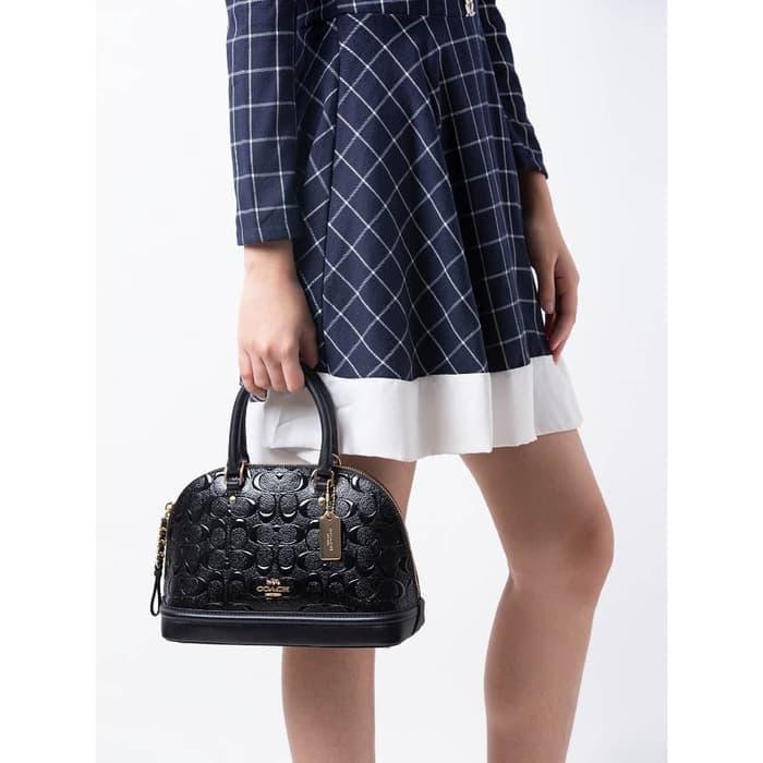 {tas-86-} Coach Mini Sierra Debossed Patent Leather 55450 murah /bagus/mantap