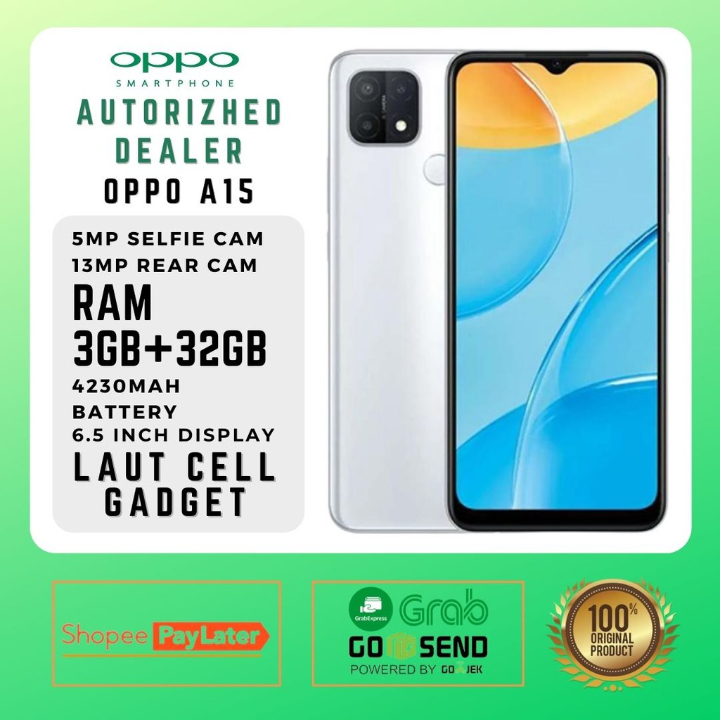 Oppo A15 3 32 GB hp murah handphone android fast charger anti gores soft case kabel data