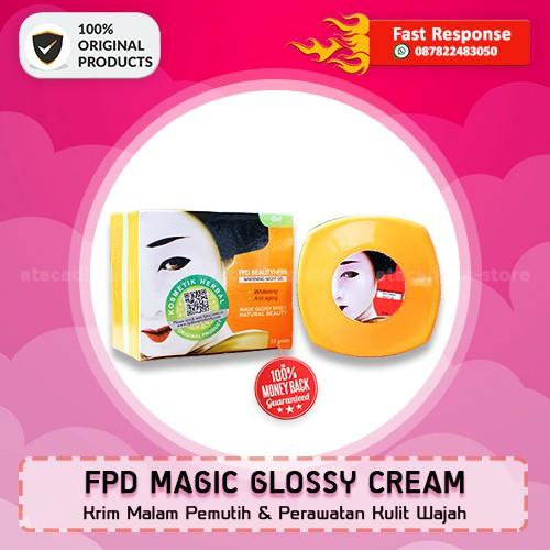 grosir herbal FPD Beauty Herbal Magic Glossy Night Cream Krim Malam Pemutih Wajah | Shopee Indonesia