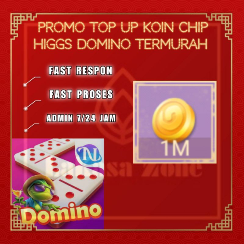 Promo Top Up Koin Chip Higgs Domino Termurah - Chip Ungu / MD 1M