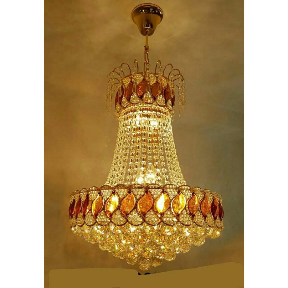 Lampu Hias Plafon Gantung Crystal Kristal Bisa 3x Nyala Design Mewah Shopee Indonesia Jual lampu hias gantung