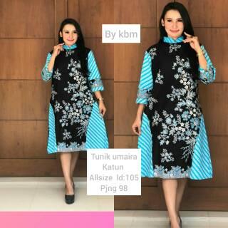 Contoh Dress Batik Kerja Kombinasi Katun Model Baju Kerja Wanita Berjilbab Shopee Indonesia