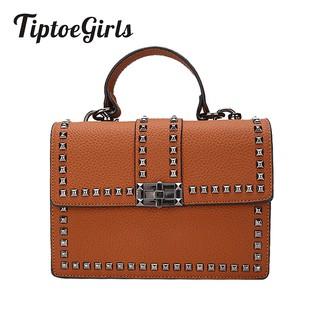 Tiptoegirls Tas Wanita Mewah Handbags Wanita Messenger Cover Rivet Tas Fashion Tas Bahu Wanita | Shopee Indonesia