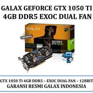 VGA GALAX nVidia Geforce GTX 1050 Ti EXOC (EXTREME OVERCLOCK