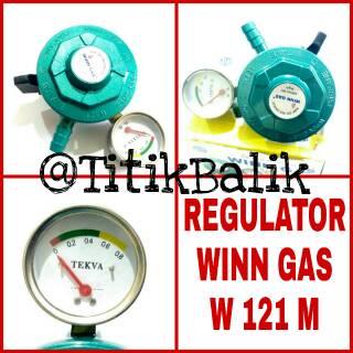 Regulator Winn Gas W 121 M - Meteran W 121M - Garansi Win Gas W121M - SNI - Tekanan Rendah