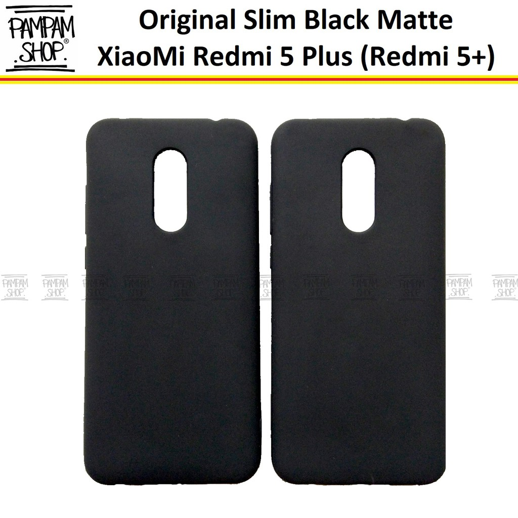 Soft Case Slim Black Matte XiaoMi Redmi 5 Plus 5+ Ultrathin Ultra Thin  Hitam Blackmatte Softcase Ori  3ff274e107
